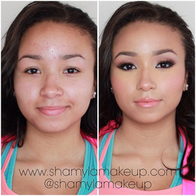 Prom Glamour makeup for my deeper skin tone