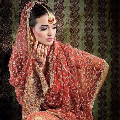Walima bridal makeup and hair
