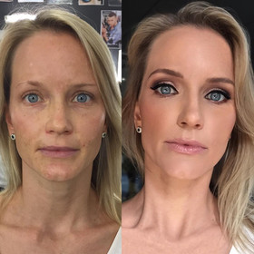Glam makeup transformation