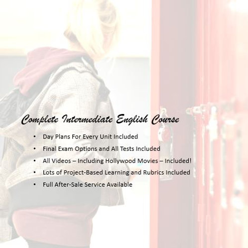 Full Intermediate English Course:  EVERYTHING is Included!