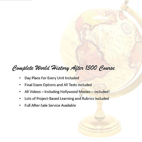 World History After 1500 Course: EVERYTHING is Included!