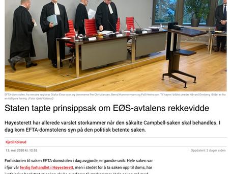 Staten tapte prinsippsak om EØS-avtalens rekkevidde