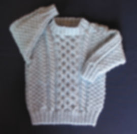 Baby boys sweater hand-knitted using soft 100% Merino Wool