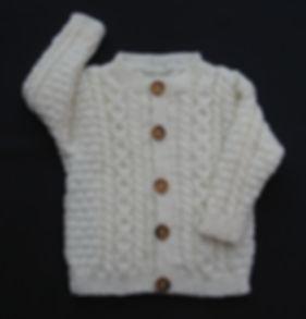 White cable cardigan merino wool