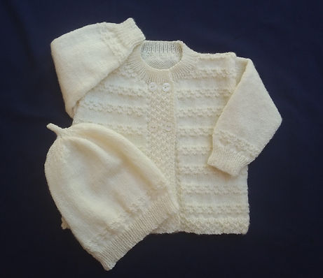 Cream double Brasted Cardigan & Hat.jpg