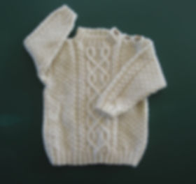 baby boys cream organic Mewrino wool sweater