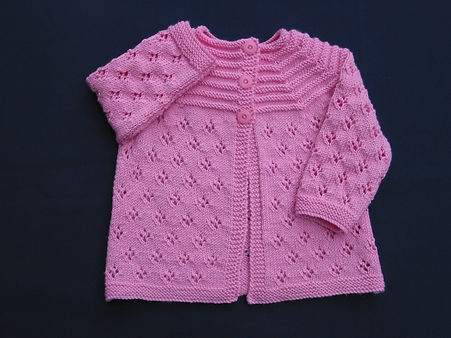 Top quality Merino wool hand-knitted babies jacket which is machine washable