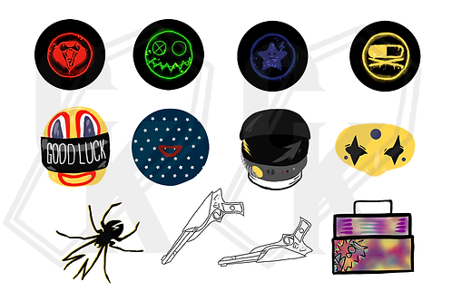 Killjoys Danger Days Sticker Set