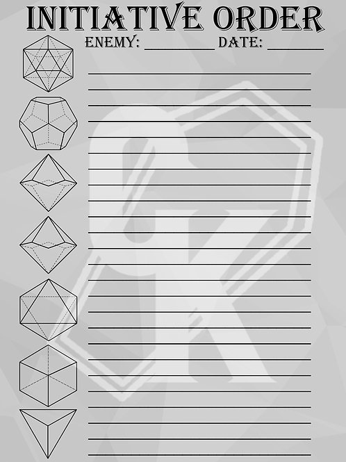 "8x5""Journal - Initiative Order"