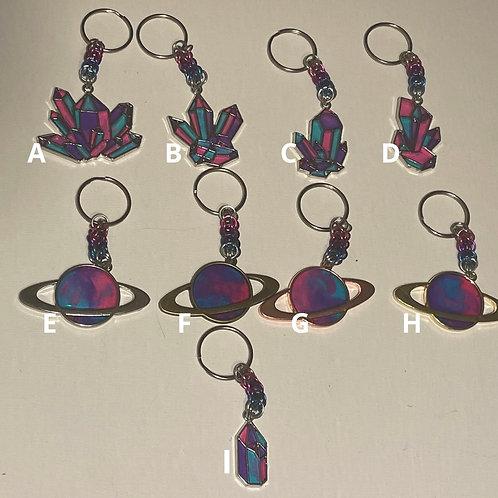 Bi-Pride Keychains