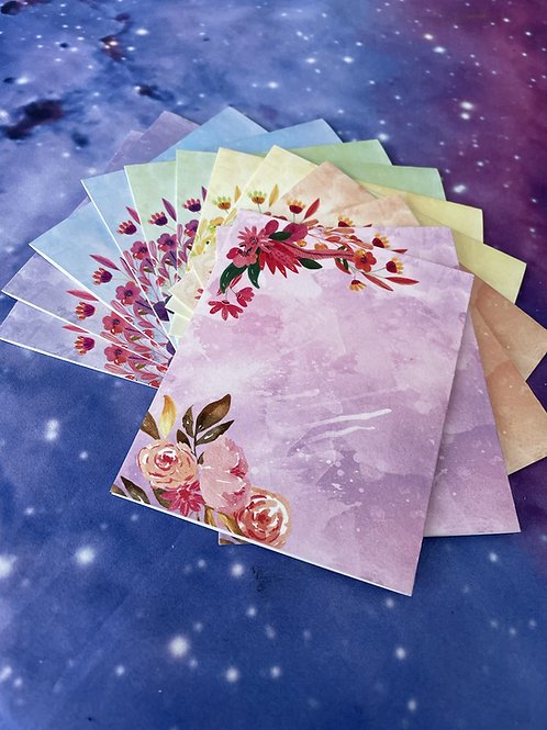 May Flowers Stationary A2