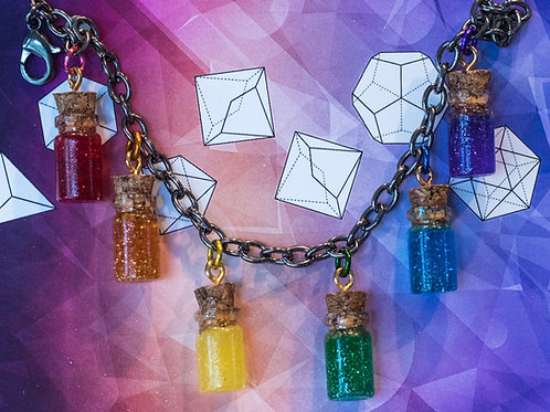 Rainbow Pride Potion Charm Bracelet
