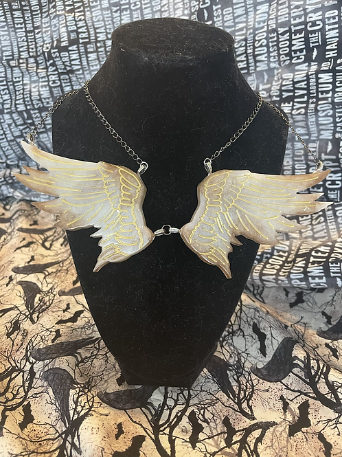 Angel Wing Short Chain Necklace (Last in Stock)