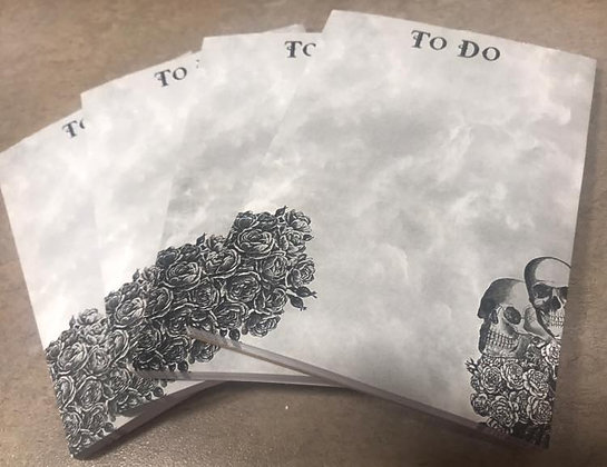 To Do Skull Note Pad