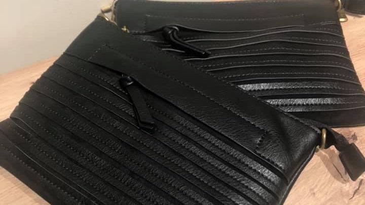 Sac pochette noire Mandoline