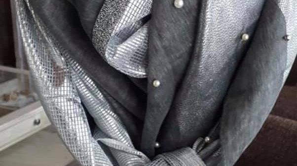 Foulard By ManoA gris argenté