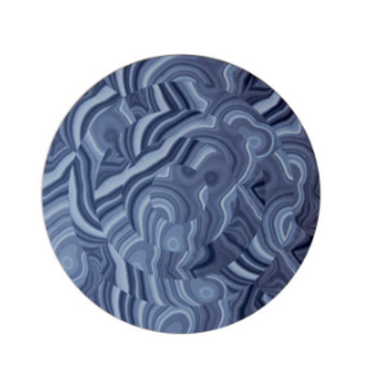 Navy Malachite Placemat - Set of 2 by Tisch New York