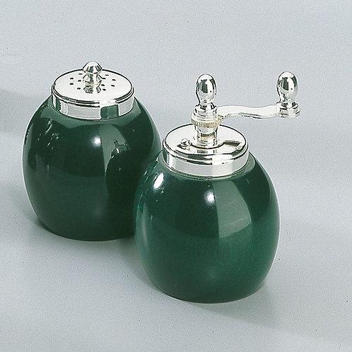 Classic Green Salt Shaker and Pepper Mill