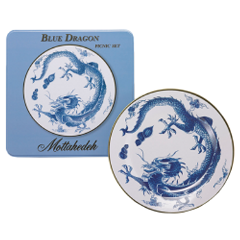 Blue Dragon Picnic Set of 4 by Mottahedeh