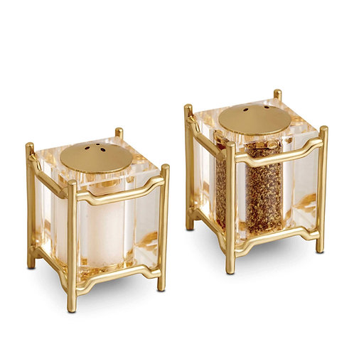 L'Objet Han Spice Jewels Salt and Pepper Set in Gold