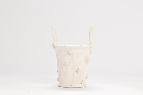 White Cachepot by Christopher Spitzmiller
