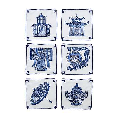 Indochine Cocktail Napkins -Set of 6