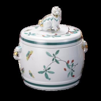 Famille Verte Fu Dog Jar, Large by Mottahedeh