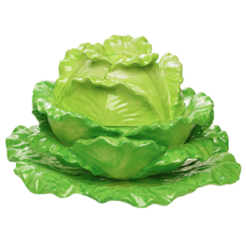 Lettuce Tureen and Stand by Mottahedeh