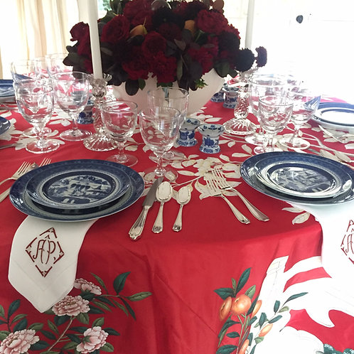 Gracie Hand Painted Tablecloth