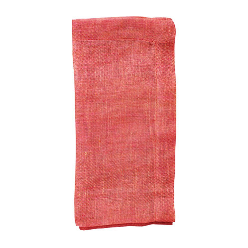 Chambray Gauze Napkin- Set of 4 in Salmon