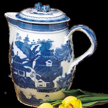 Blue Canton Cider Jug