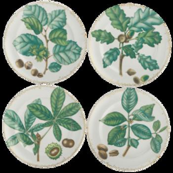 Nutleaf Dessert Plate Set of Four