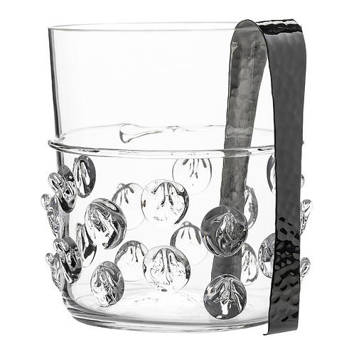 Florence Ice Bucket with Tongs-by Juliska