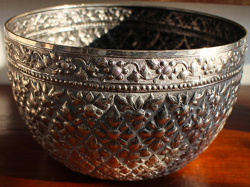 Silver Bowl - Asian Style