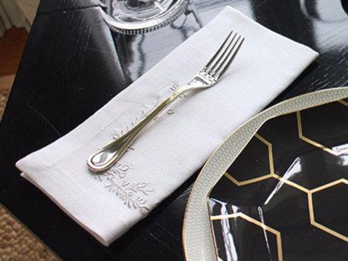 Floral Design Dinner Napkins by Leontine Linens Napkins