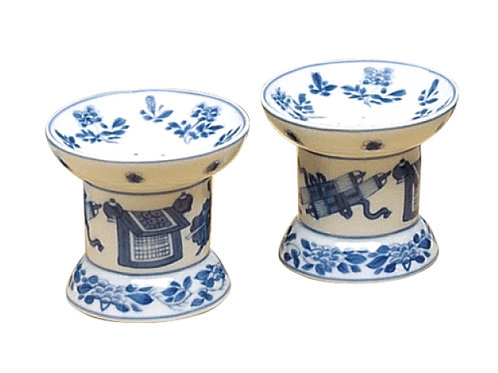 Mottahedeh Blue Canton Salt & Pepper Shakers