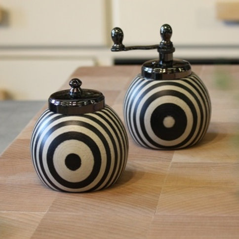 Bianco Nero Salt Shaker and Pepper Mill