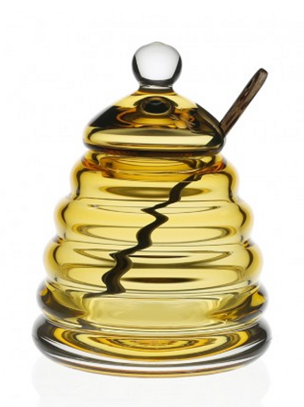 Honeycomb Honey Jar & Spoon by William Yeoward