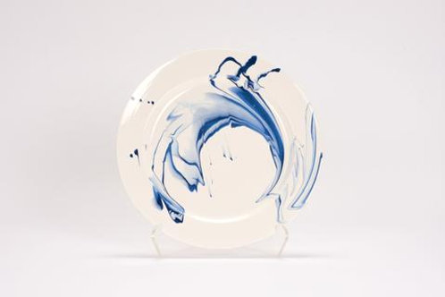 Marble Charger - Delft Blue