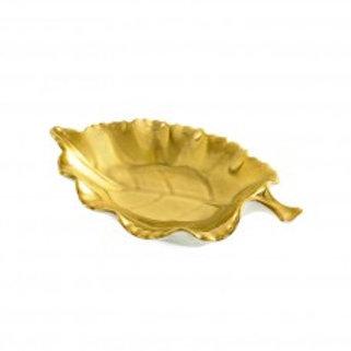 Carine Gold Leaf Dish by William Yeoward