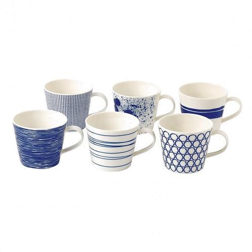 Royal Dalton Pacific Accent Mugs - Set of 6