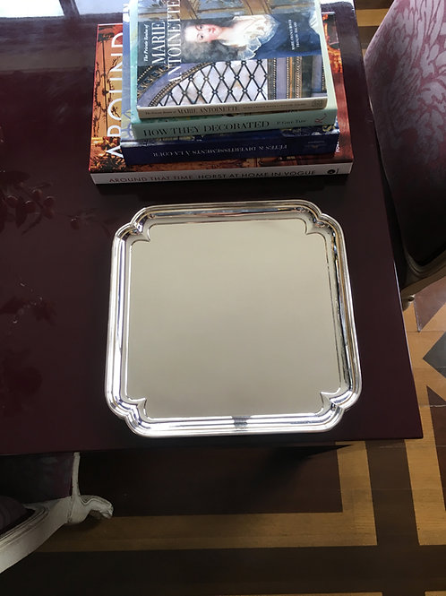 Square Silver Tray