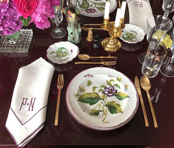 Pretty Purple Table Settings- Everyday Elegance