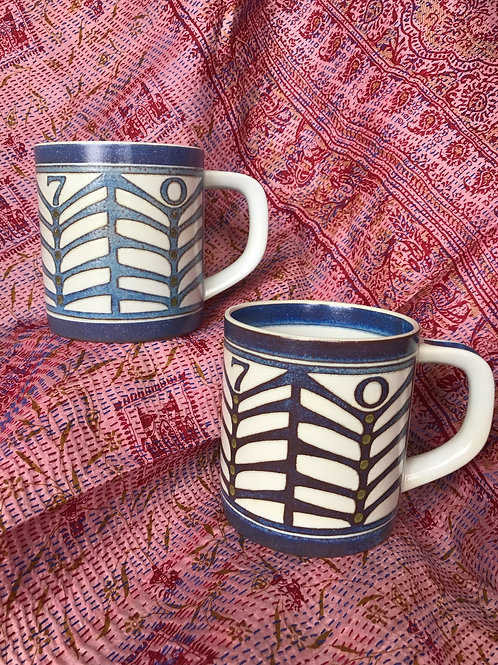 "Set of 2 1970 Royal Copenhagen ""Annual Mugs"""