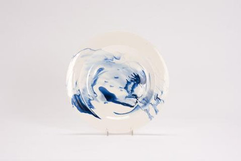 Marble Dinner Plate - Delft Blue