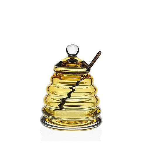 William Yeoward Crystal Amber Honey Jar