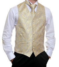 Silver Gold Paisley Vest