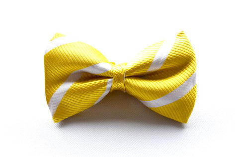 Stripe Bow Tie Yellow