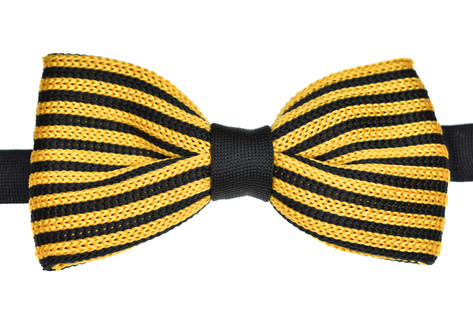 Knitted Bow Tie Yellow & Black