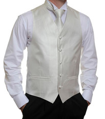 Ivory Stripe Vest